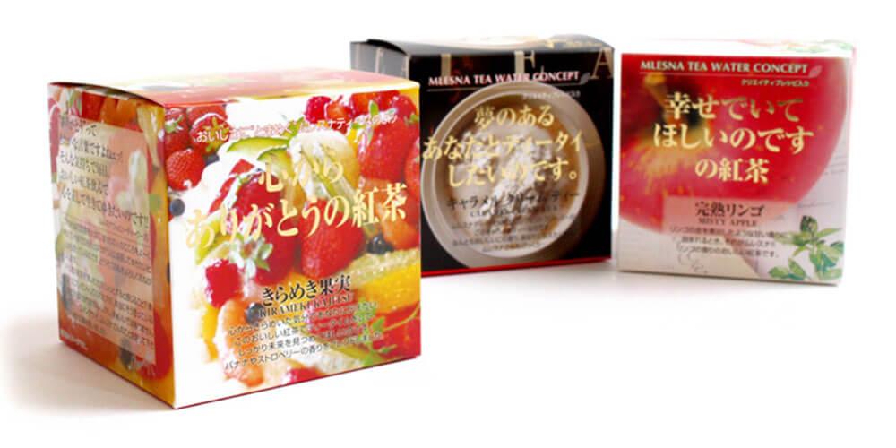 ムレスナティーの紅茶パッケージ